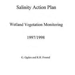 Salinity Action Plan : wetland vegetation monitoring, 1997/1998