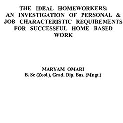 The ideal homeworkers: An investigation of personal & job characteristic requirements for successful home based work