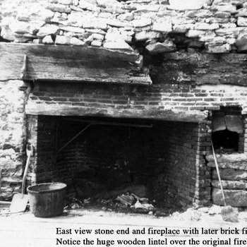 Waite Potter House 080: Interior view of Fireplace