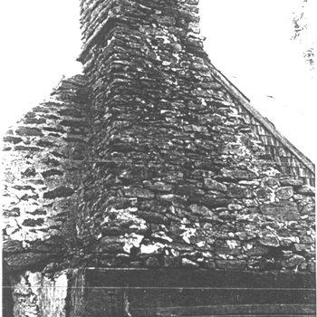Waite Potter House 130: Chimney in 1956