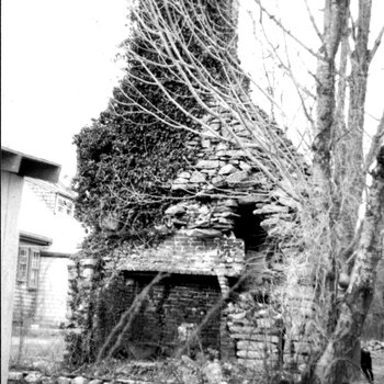 Waite Potter House 140: Chimney and Firebox in 1978