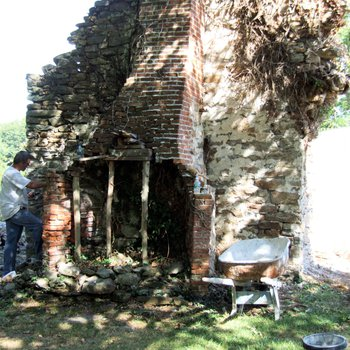 Waite Potter House 220: Chimney and Firebox Restoration, West End Pointed