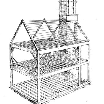 Mott House 030: Rafters with Purlins