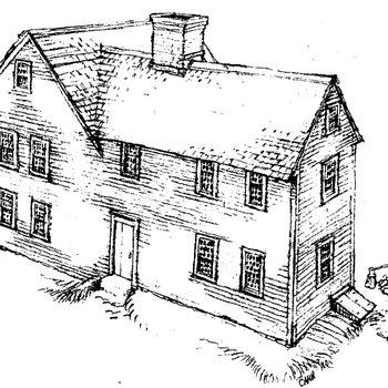 Mott House 040: Drawing of Jacob II, Phase 2, circa 1725