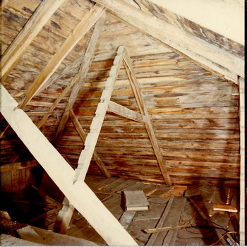 Mott House 125: Attic Looking from the Middle