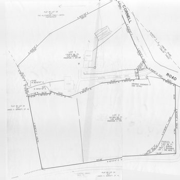 Cory House Renovation: Plat and Lot Map