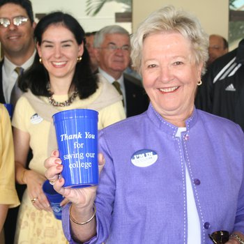 Founders Day 2006: Kathleen Clunan with cup