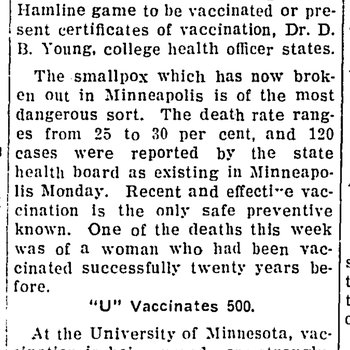 Students Going to Hamline Game Must Be Vaccinated