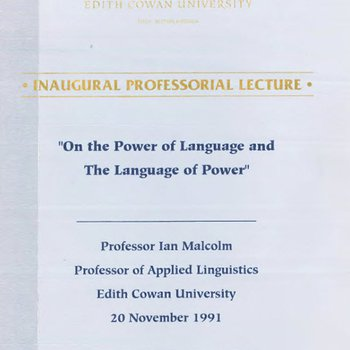 On the power of language and the language of power