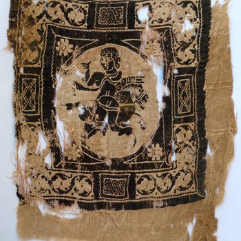 Textile Fragment with Equestrian Figure