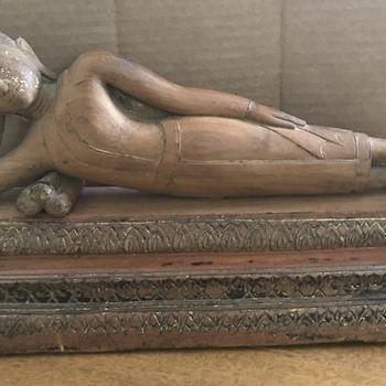 Thai Wooden Recumbent Buddha