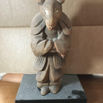 Wood Zodiac Figure of the Rat