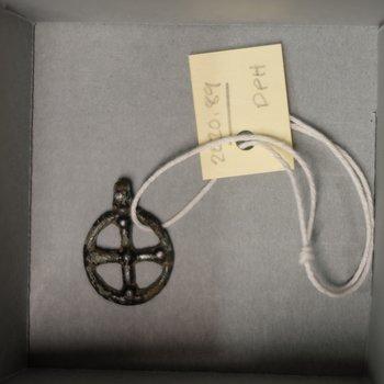 Russian circular cross pendant