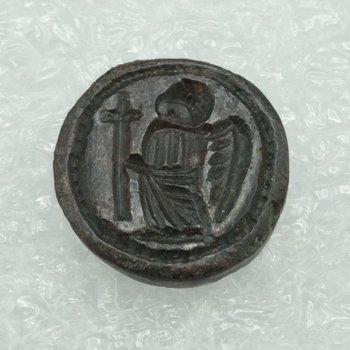 Seal with a Victory Holding a Cross