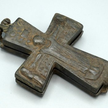 Pendant Reliquary Cross with the Crucifixion and the Mother of God