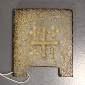 Plaque with Crosses