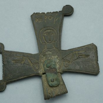 Cross Fragment with the Mother of God