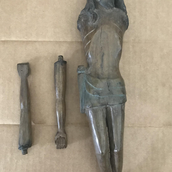 Sculpture of the Crucified Christ with Detached Arms