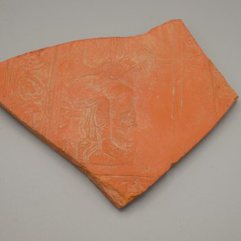 Tile with Evangelist and Tau Rho