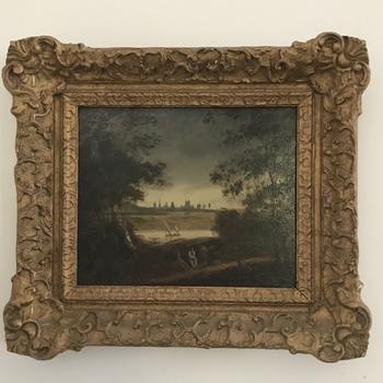 Landscape on Wood Panel