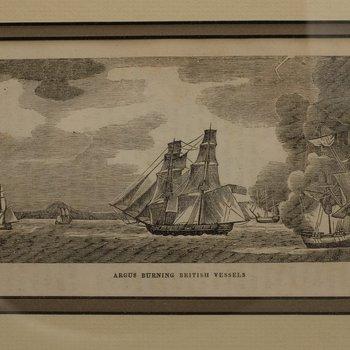 Argus Burning British Vessels