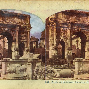 Stereoview Photographs of Rome from the Early 20th Century