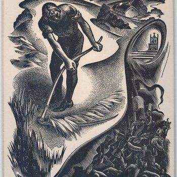 Elegy Written in a Country Church-Yard Illustration