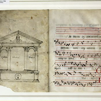 Gradual Leaf with Architectural Plan for an Altar