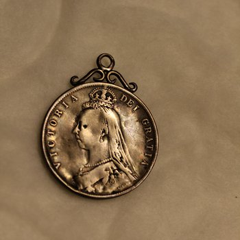 Queen Victoria Coin Pendant