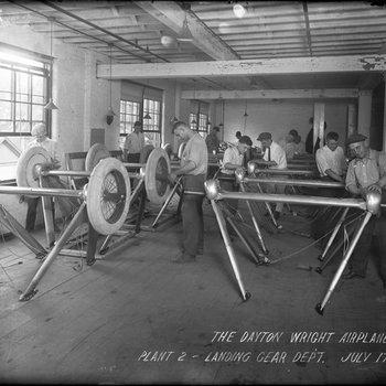 Landing Gear Department, Dayton-Wright Airplane Company Plant 2 July 17, 1918