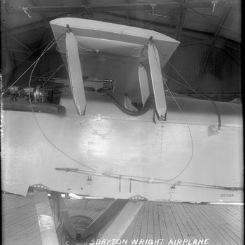 Side view of a De Havilland DH-4 at the Dayton-Wright Airplane Company