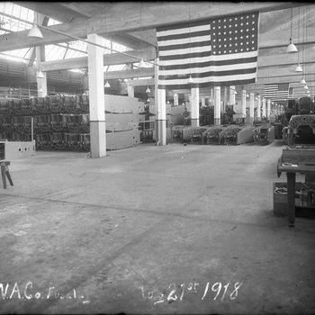 Wide angle view of the Fuselage Department of the Dayton-Wright Airplane Company August 21, 1918