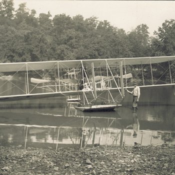 Wright Model CH Flyer floating in Miami River 2