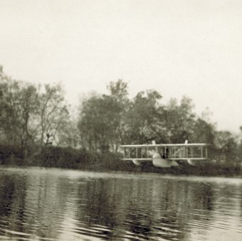 Right front view of Wright Model G Aeroboat in flight 2